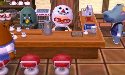 making coffee for T-Bone