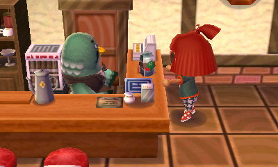 Animal Crossing New Leaf Blathers Cafe
