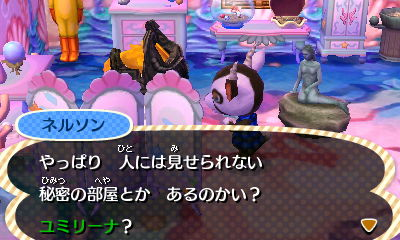 He's asking if I have any secret rooms. I don't like where that's going either...