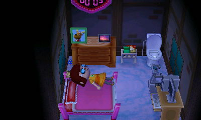 I am so Goldilocks. I sleep in everybody's bed. That's creepy.