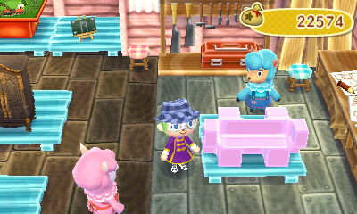 The eraser bench remade pink