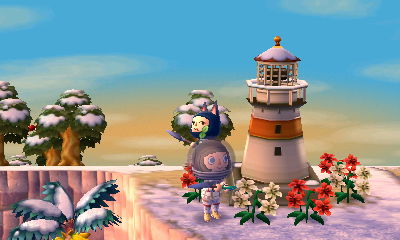 Look at Wasabi village's awesome lighthouse! I wish Kasen't villagers wanted one