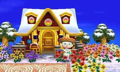 Home Exteriors Animal Crossing New Leaf Gold Home Exterior Acnl What Do You Guys Think Of An