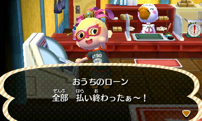 She paid off her very first home loan: 39,800 bells.