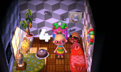 This is the schoolhouse floor in Taiga's tiny house.
