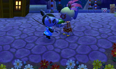 Nelson wanted a butterfly. He got it! (unlike most of the other townies' requests today)