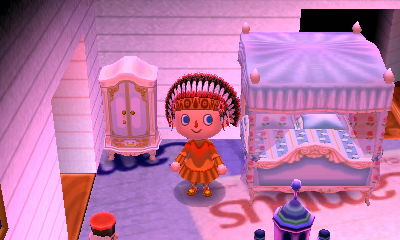 The princess closet and bed. That's a lot of bells I've saved through fashion evaluation wins.