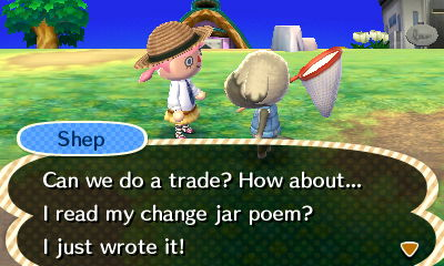 Aw Shep's a bad poet.