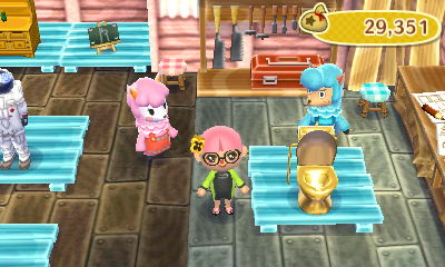 Behold my fabulous golden toilet!