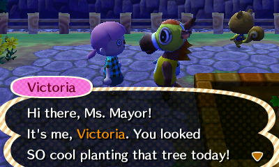 Victoria already looks up to me. I'll try to make Hanabi village great Victoria!