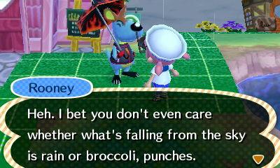I think broccoli might hurt...
