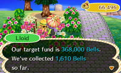 That 1,610 bells all came from townies.