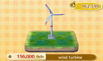 Shep proposed a wind turbine. I vetoed.