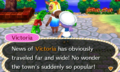 I let Victoria think that she was the reason for the influx of guests.