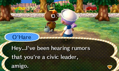 Just call me civic leader Vella. I think I like that better than Mon Amie...
