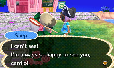 "Perhaps I shouldn't have made ""I can't see!"" his greeting..."