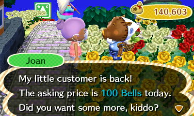 Me with Joan (I bought 6,200 turnips. Help!)