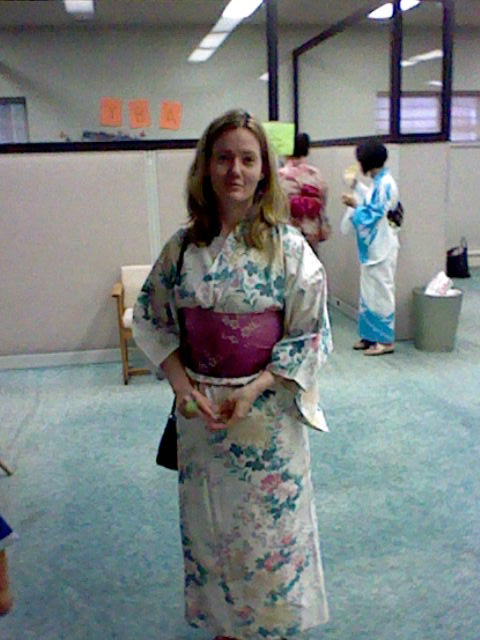 Me in a kimono last year. Not pictured: flip flops.