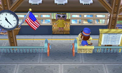 Me getting on the train (off to sell cherries for fun and profit)
