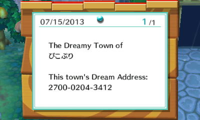 If you'd like to visit the village, here's the code.