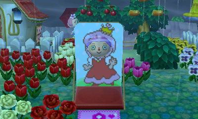 This is the pikopuri princess. They have her dress as a QR code and I believe this cutout might be in the June-July magazine.