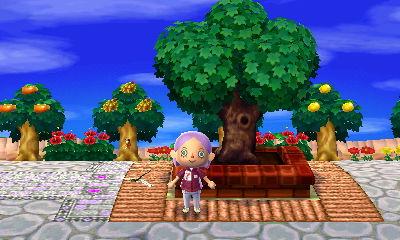 Me in front of Hanabi's Town Tree