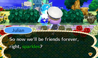 Me with my favorite villager: Julian
