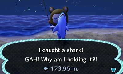 Me catching a shark