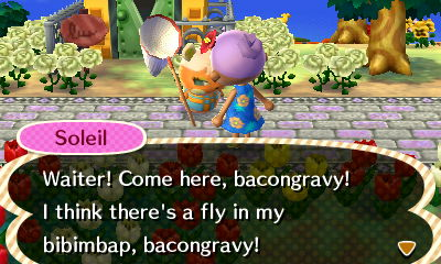 I'm not sure that Soleil's new catchphrase works, but she thinks she can boss people around just fine, bacongravy!