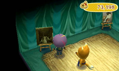 Fake solemn painting.