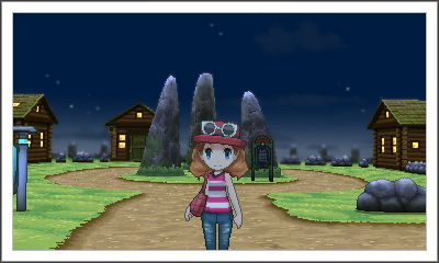Geosenge City at night. Finally got some new clothes! Still need a better hat.