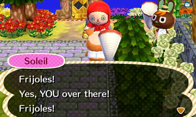 Soleil has gone from southern food greetings and catch phrases to Mexican food. What do you teach your townies?