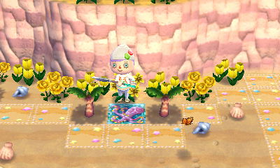 I don't know why I decided the beach needed yellow flowers but…