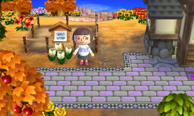 That's Octavian's home plot and in front of it is my new resident: Olive.