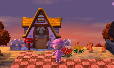 The paths and houses look delicious.
