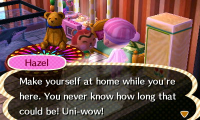 I had to say hi to Hazel. She came from my JP town. ;)