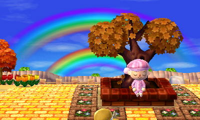 I'm just gonna sit and stare and meditate about the double rainbow all day
