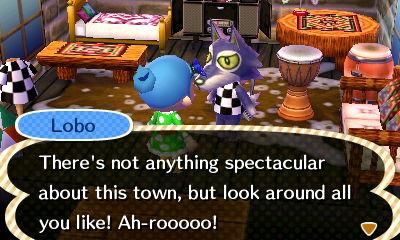 You're not very nice, Lobo. I think we need to ship you off to Jisuna (my husband's town) soon.