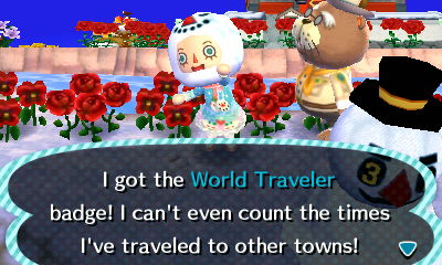 This is a lie. If the badge guide is to believed I know exactly how many times I've traveled to other towns: 250.