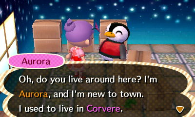 Well, I can report to the mayor of Corvere that their Aurora was not voided. She'll live on in Hanabi until I get her picture, then out!