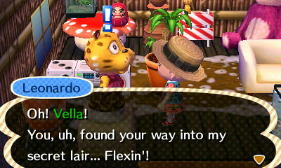 Kokuto's favorite villager has a secret lair (I think it might be a man cave)