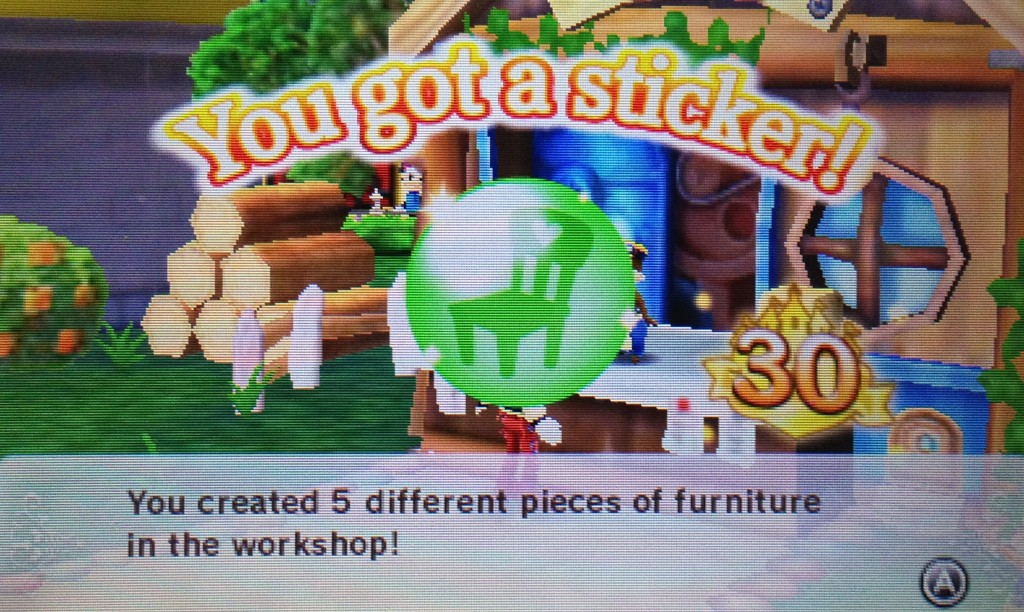 It was hard to get this sticker because I have no  money to make furniture! I made the cheapest wallpaper and floor I could.