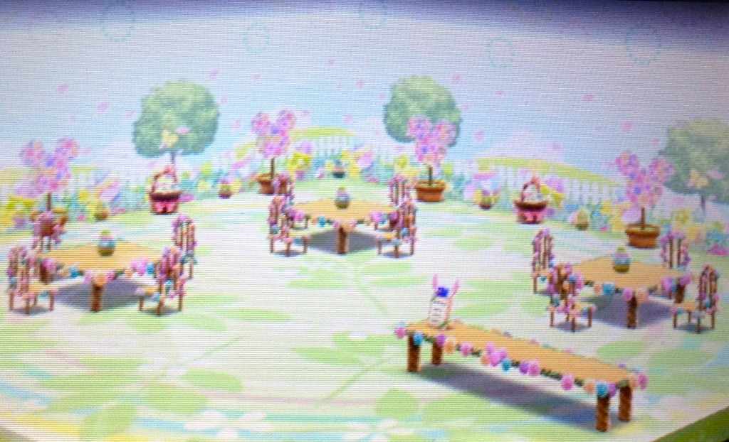 A bad picture of what the Easter set looks like