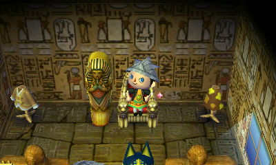 I took over Ankha's throne. Who's queen now?!