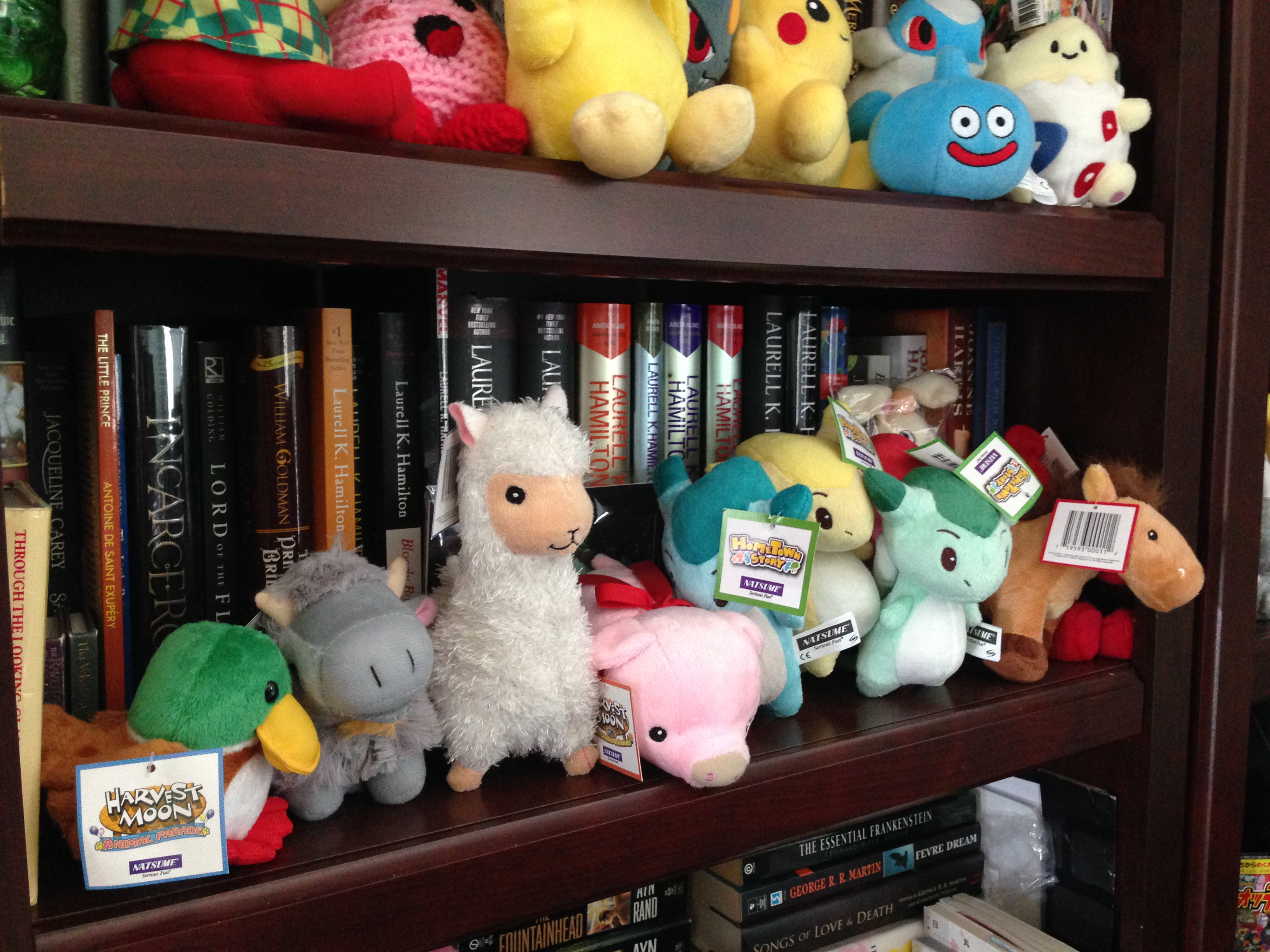 My collection of Harvest Moon plushies.