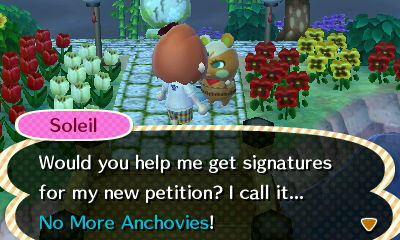 What did anchovies ever do to you, Soleil?