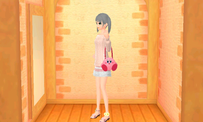 The original girly outfit I made to match the kirby purse.