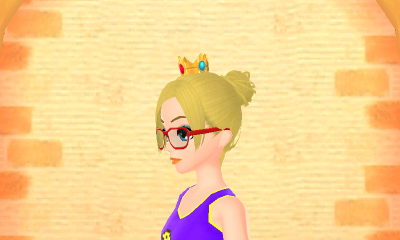 Princess Peach's crown will be mine. Also, I really love what they did with my Mii. She's so cute!