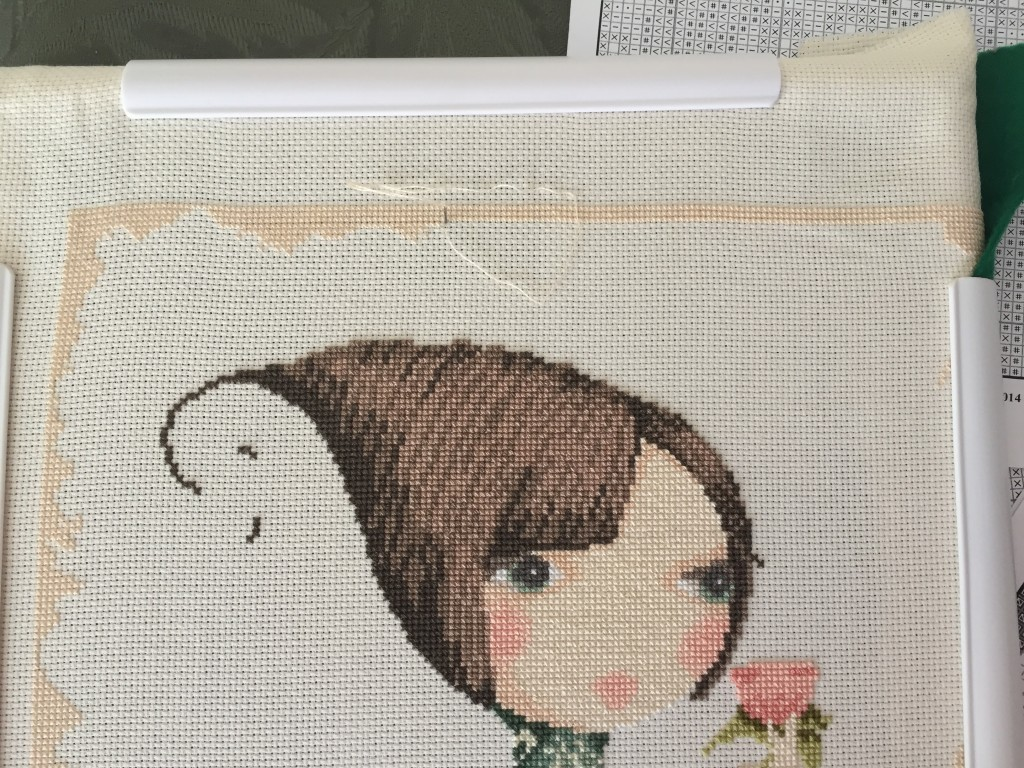 Where I am in my quest to finish the top border.