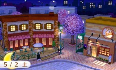 Take a picture on café street with the café visible.